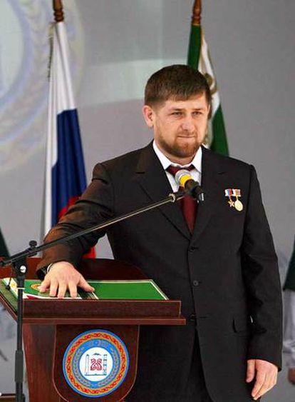 Kadírov jura el cargo en Gudermes.