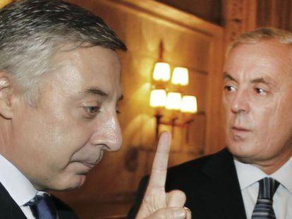 José Blanco y Pachi Vázquez, en octubre de 2011.