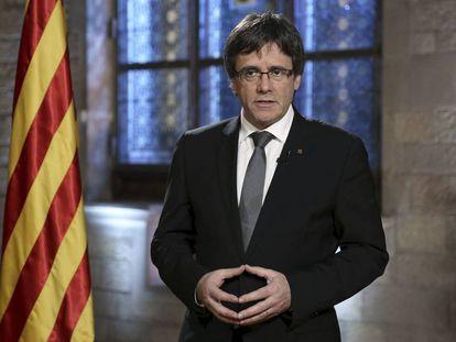 Puigdemont, en su mensaje de fin de año.