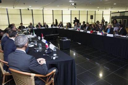 La reunión de fiscales de once países en Brasil para tratar el caso Odebrecht.