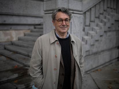 El escritor Andrés Trapiello presenta su nuevo libro en Madrid. ISABEL B.P
