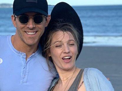 Ryan Reynolds y Blake Lively en una de las imágenes que ha publicado el actor para felicitar a su esposa en su cuenta de Instagram.