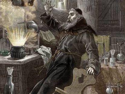 Berthold Schwarz, el monje que supuestamente descubrió la pólvora en el siglo XIV.