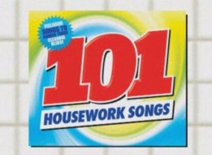 Portada del disco con '101 canciones para hacer las tareas domésticas'