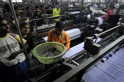 Fábricas de telas de las afueras de Dacca