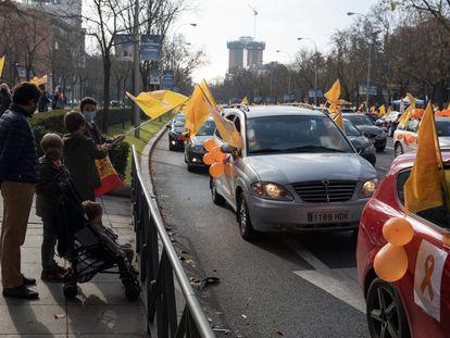 Manifestación contra la 'ley Celaá' en Madrid este domingo 20 de diciembre.