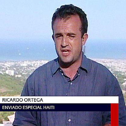 Ricardo Ortega, en la última conexión en directo desde Haití.