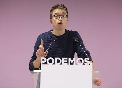 Íñigo Errejón, secretario político de Podemos.