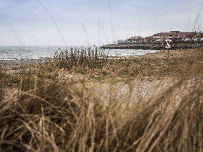 Una de las playas de Ystad.