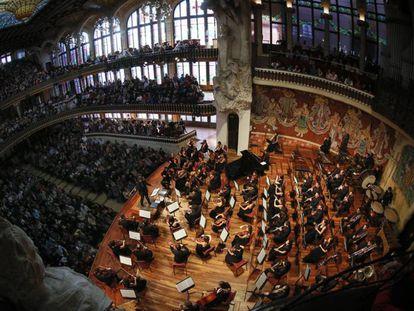 Concierto de la Orquesta Sinfónica en el Palau de la Música.