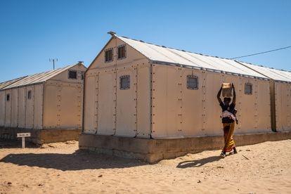 Una madre en el asentamiento de Khar Yalla.