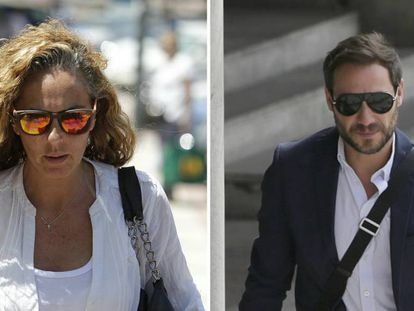 Rocío Carrasco y Antonio David Flores.