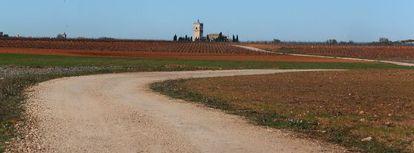 Camino entre Toledo y Murcia cerca de El Toboso.