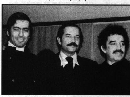 De izquierda a derecha, Mario Vargas Llosa, Carlos Fuentes, Gabriel García Márquez y José Donoso, en los años setenta.