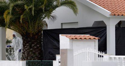 La policía portuguesa investiga el chalé donde estaba el polvorín.
