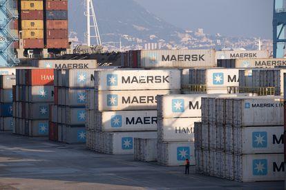 Uno de los patios de contenedores del puerto de Algeciras, esta pasada semana.
