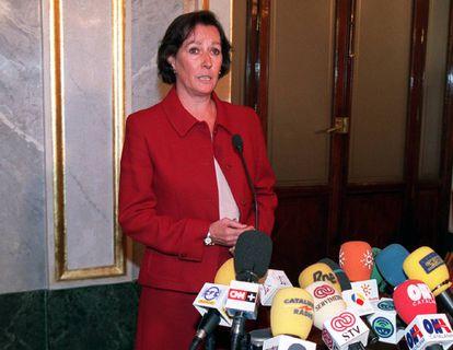 La exministra Margarita Mariscal de Gante, en una imagen de 2002.