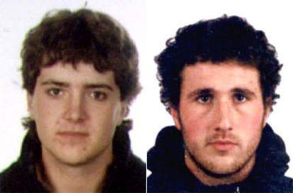 Joeanes Larratxea (izquierda) y Lirgu Mindueta en las fotografías difundidas por el Ministerio del Interior.