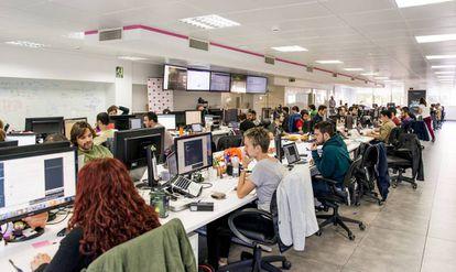 Las oficinas de la start-up en Madrid.