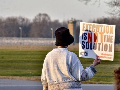 Una protesta en contra de la condena de muerte en Estados Unidos por el caso de Brandon Bernard.