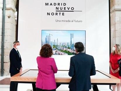 Presentación de la maqueta digital de Madrid Nuevo Norte en la Real Casa de Correos el pasado 7 de septiembre