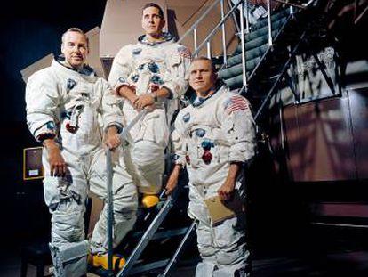 Los tres astronautas del 'Apolo 8': de ixquierda a derecha, James A. Lovell Jr., William A. Anders, y el comandante, Frank Borman.