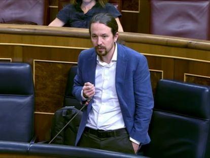 """Pablo Iglesias a Pablo Casado: """"Usted nunca será Presidente del Gobierno""""."""