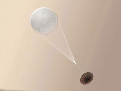 El módulo  Schiaparelli  falló y cayó sin paracaídas ni cohetes desde una altura de 2.000 metros