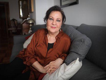 Carmen Linares, en su casa madrileña.