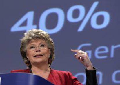 La vicepresidenta y comisaria europea de Justicia, Viviane Reding. EFE/Archivo