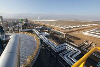 Planta de energía termosolar en Almería.
