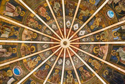 Cúpula del Baptisterio de Parma, del siglo XIII, situado junto a la catedral de la ciudad italiana.