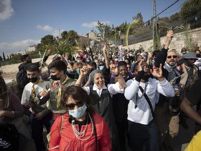 Procesión del Domingo de Ramos, este domingo en Jerusalén.