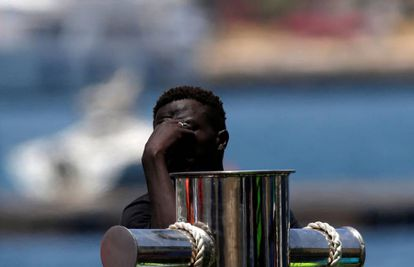 Un migrante recién llegado en Malta.