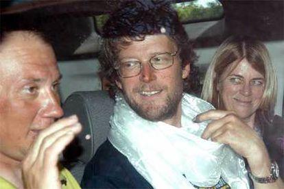 El montañero australiano Lincoln Hall, el pasado martes tras ser atendido en un hospital.