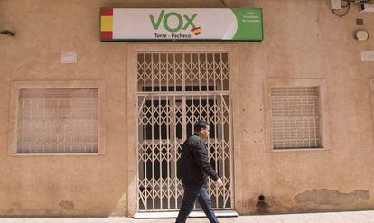 La sede de Vox en Torre-Pacheco, Murcia.