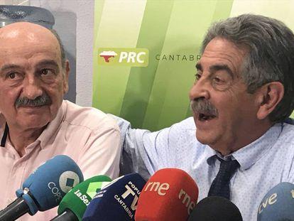 Miguel Ángel Revilla junto a José María Mazón, que será diputado del PRC en el Congreso.
