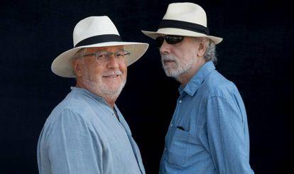 Héctor Abad Faciolince y Fernando Trueba, en el Hay Festival.
