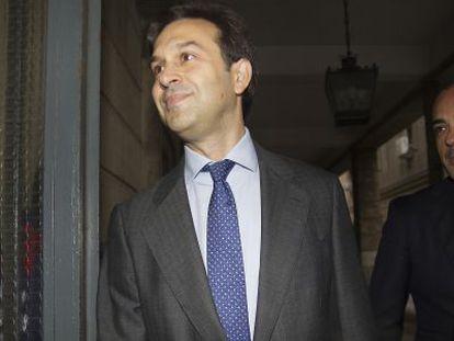 Juan María González a su llegada a los juzgados este jueves.