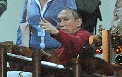 Noriega, durante su ingreso a prisión en diciembre de 2011.
