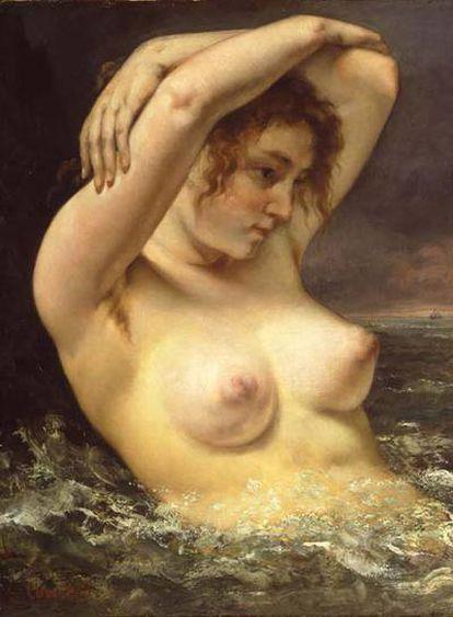 <i>La mujer en las olas </i><b>(1868)</b>, de Courbet.