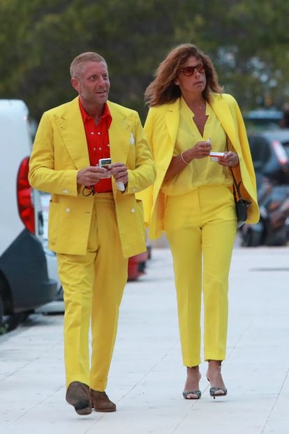 Lapo Elkann y Joana Lemos en Ibiza el 28 de junio.