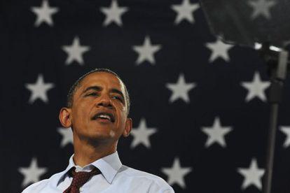 Obama en un mitin en un instituto de Windham (New Hampshire) el sábado.