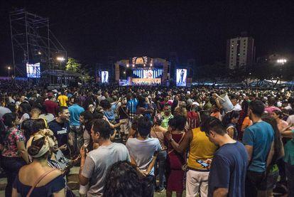 Miles de personas acudieron a la llamada de la marimba en el escenario principal del Petronio.