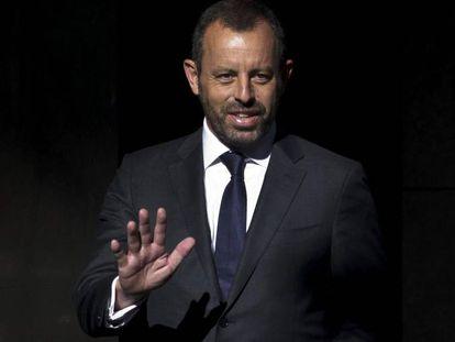 El expresidente del Barcelona, Sandro Rosell, cuando fue absuelto por la Audiencia Nacional en 2019.