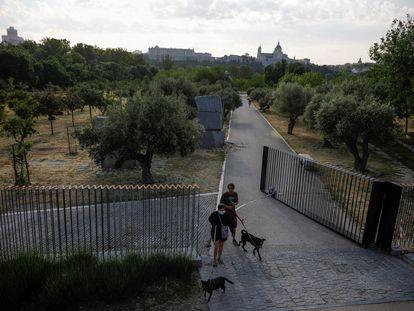 Reapertura de algunas zonas verdes de Madrid en el comienzo de la fase 1.