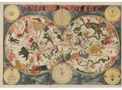 Planisferio celeste (1688) de Frederick de Wit.
