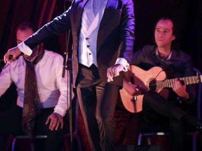 """El bailaor Juan Fernandez Montoya """"Farruquito"""" durante su actuación en el Baluarte de Pamplona."""