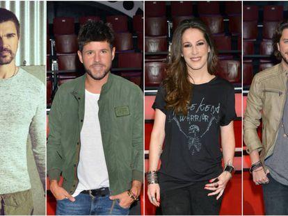 Juanes, Pablo López, Malú y Manu Carrasco, 'coaches' en 'La Voz' 5.