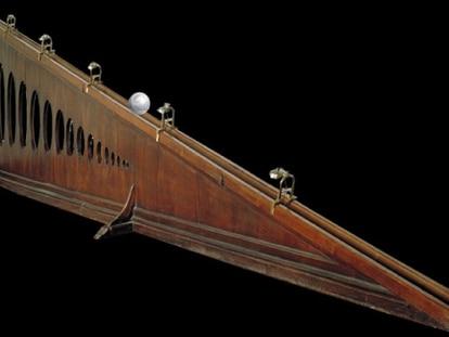 Plano inclinado, Museo Galileo de Florencia
